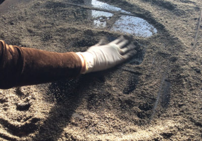 Decorazione tramite sabbiatura su misura