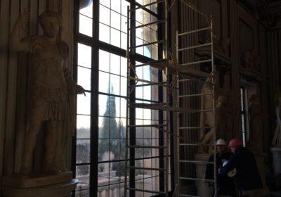 Vetrate a piombo del palazzo in Campidoglio